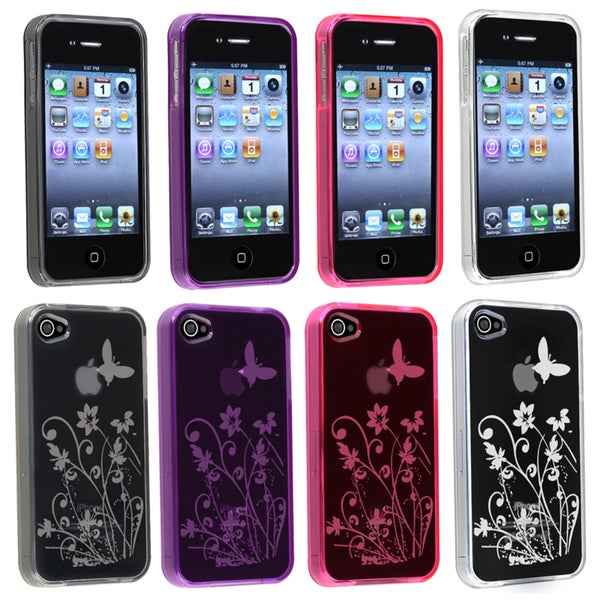 BasAcc Clear/ Smoke/ Purple/ Pink TPU Case for Apple® iPhone 4/ 4S