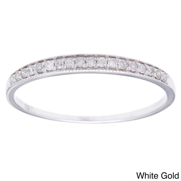 10k Gold 1/6ct TDW Diamond Milligrain Band