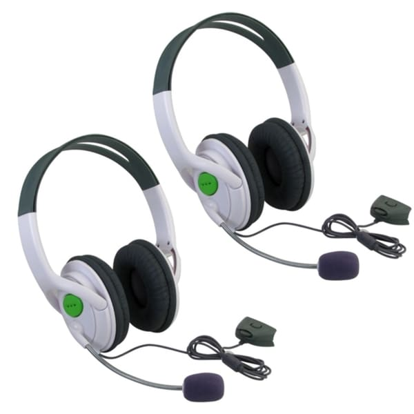 INSTEN Xbox 360 - Headset with Microphone Slim (Pack of 2)