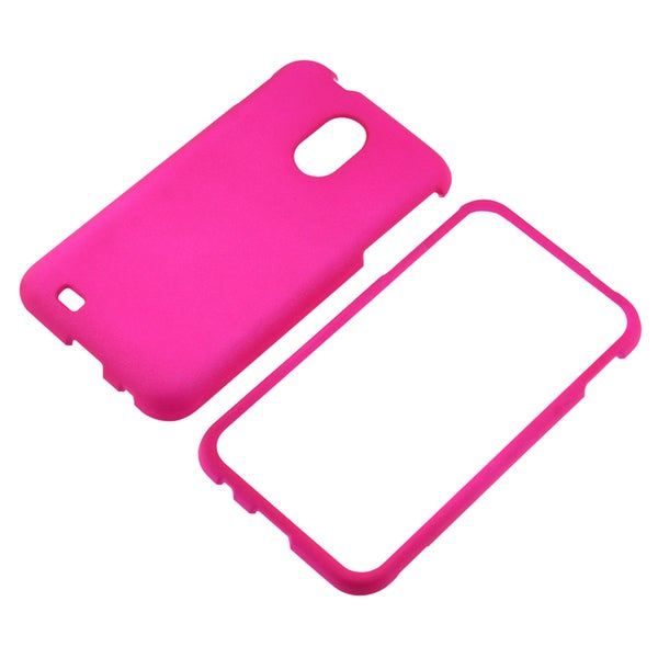 BasAcc Hot Pink Rubber Coated Case for Samsung© Epic 4G Touch D710