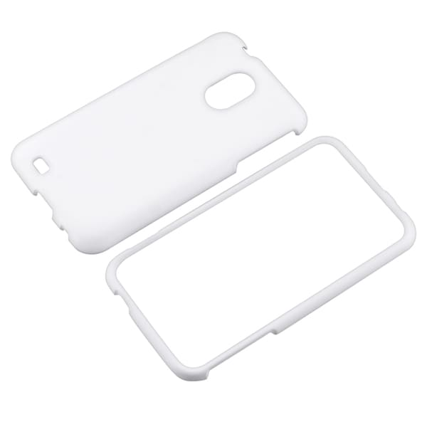 BasAcc White Rubber Coated Case for Samsung© Epic 4G Touch D710