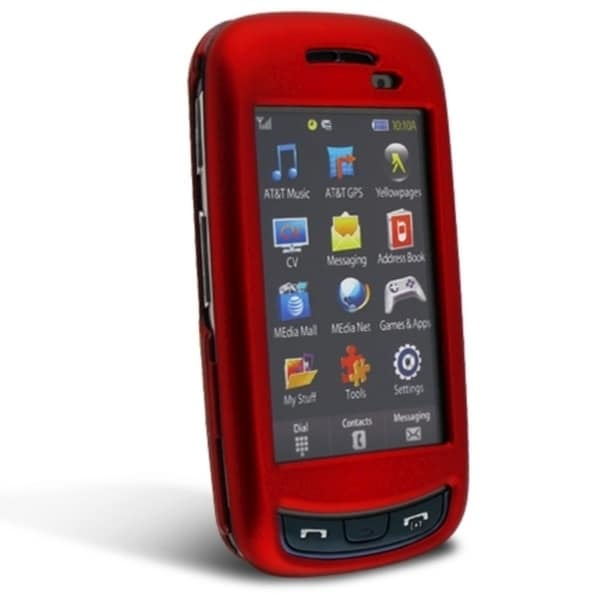 BasAcc Red Snap-on Rubber Coated Case for Samsung© Impression A877