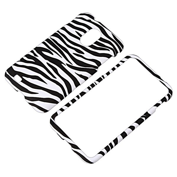 INSTEN Black/ White Snap-on Phone Case Cover for Samsung Epic 4G Touch SPH-D710