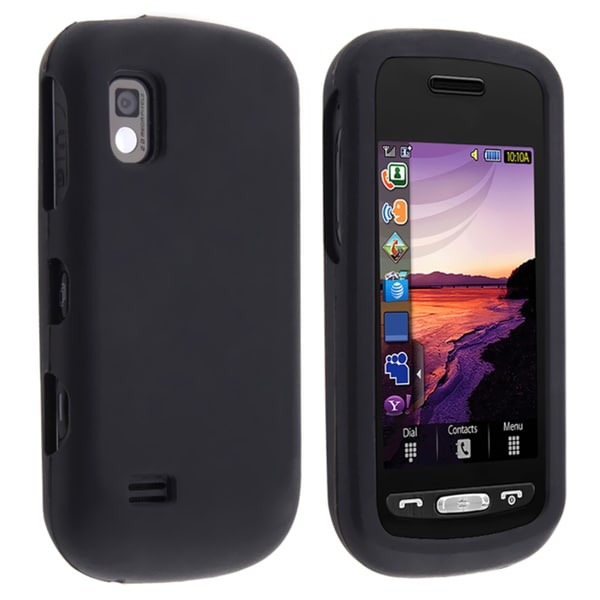 INSTEN Black Soft Silicone Skin Phone Case Cover for Samsung Solstice A887