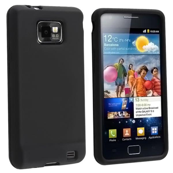 BasAcc Black Silicone Skin Case for Samsung© Galaxy S 2 i9100