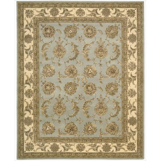Nourison 2000 Hand-tufted Kashan Blue Cloud Rug (2'6 x 4'3)