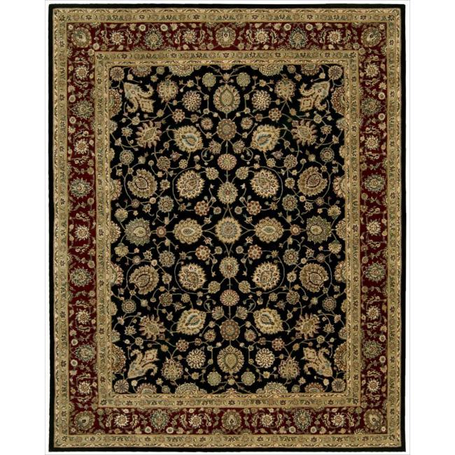 Nourison 2000 Hand-tufted Kashan Black Rug (9'9 x 13'9)