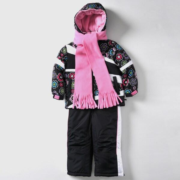 Rothschild Girls 2T-4T Floral Print Snowsuit