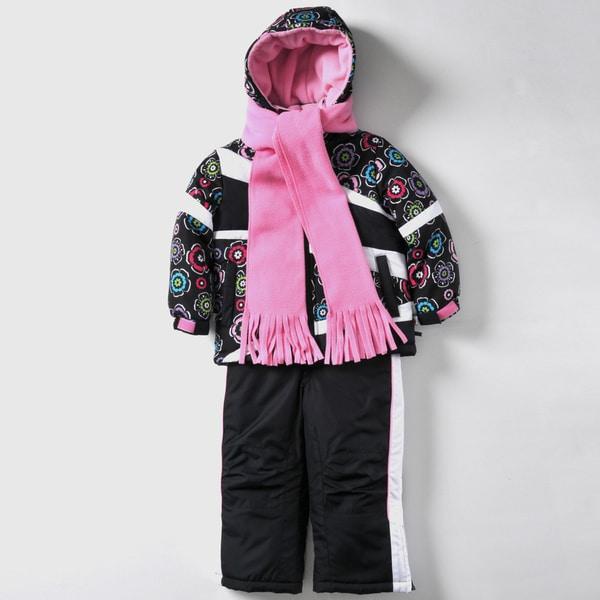 Rothschild Girls 4-6X Floral Print Snowsuit