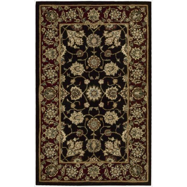 Nourison 2000 Hand-tufted Kashan Black Rug (2' x 3')