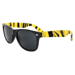 Men's Fashion Sunglasses Black Yellow Frame Black Lenses