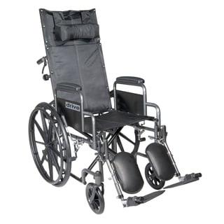 Drive Medical Silver Sport 18-inch Reclining Wheelchair