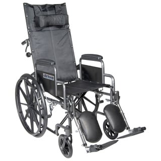 Silver Sport Reclining Wheelchair with Detachable Arms