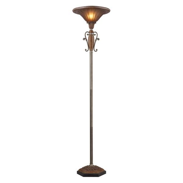 Landmark Lighting Sydney Dark Silver 1-Light Floor Lamp