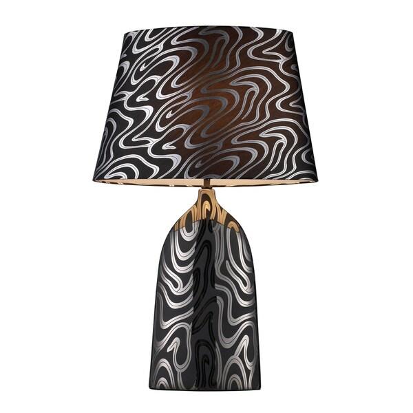 Elk Lighting 1-light Black Finish Table Lamp