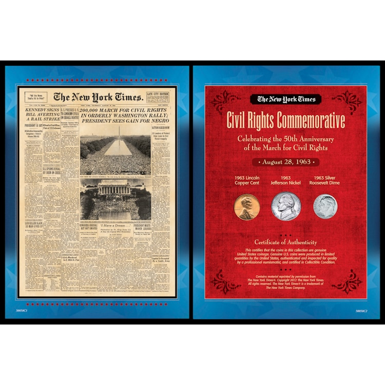 American Coin Treasures New York Times March For Civil Rights Collection
