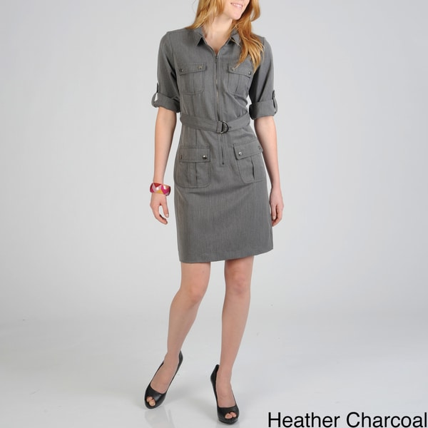 dc22ef0af52 ... Women s Clothing     Dresses     Casual Dresses. Sharagano Women  x27 s  Zip Front Shirt Dress