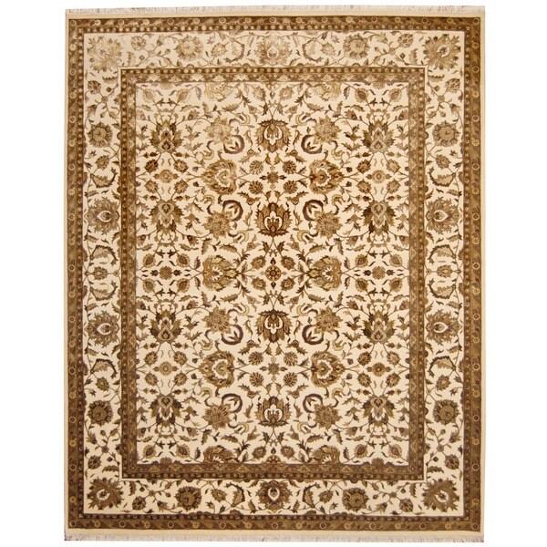 Herat Oriental Indo Hand-knotted Tabriz Wool & Silk Rug - 8' x 10'
