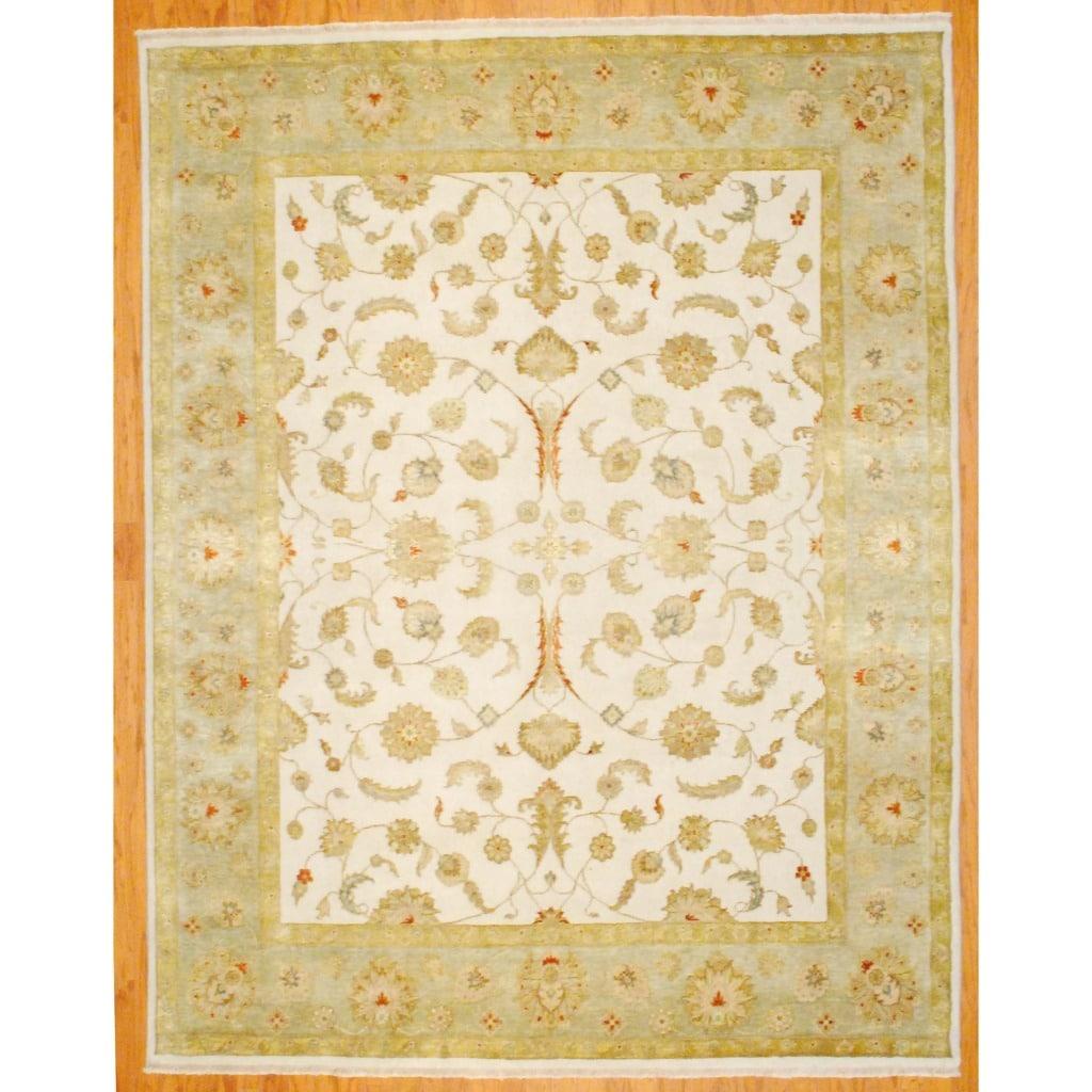 Indo Persian Tabriz Wool Area Rug: Herat Oriental Indo Hand-knotted Mahal Wool Rug (9' X 12