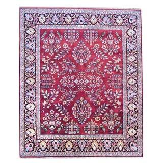 Herat Oriental Indo Hand-knotted Sarouk Wool Rug (8' x 10')