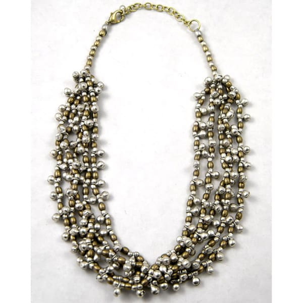 Handmade Brass and Silver Bells Necklace (India)
