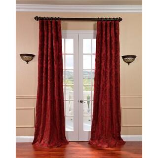 Exclusive Fabrics Astoria Red/ Bronze Faux Silk Jacquard Curtains