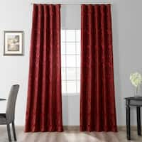 Exclusive Fabrics Astoria Red/ Bronze Faux Silk Jacquard Curtains