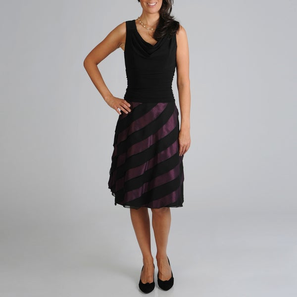 S.L. Fashions Women's Tiered Party Dress