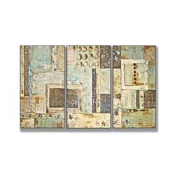 Aqua Dreams Triptych Art (17 x 33) - 17 x 33