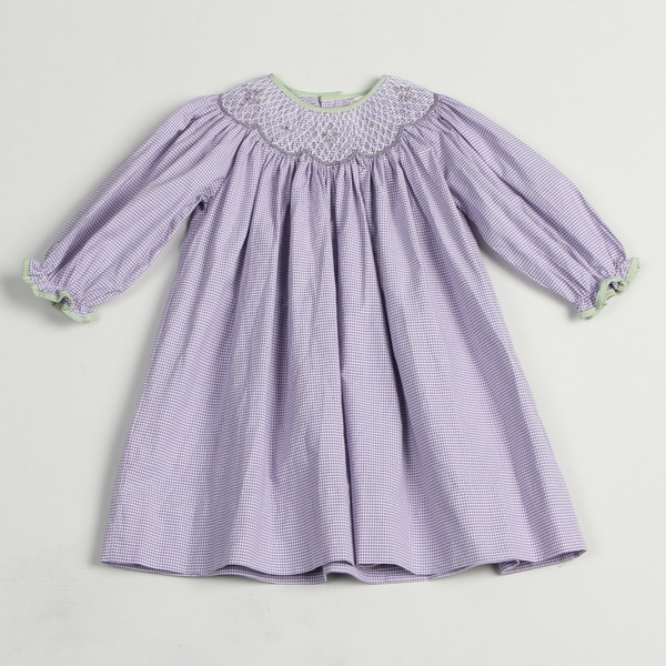 Petit Ami Toddler Girl's Purple Checkered Dress FINAL SALE