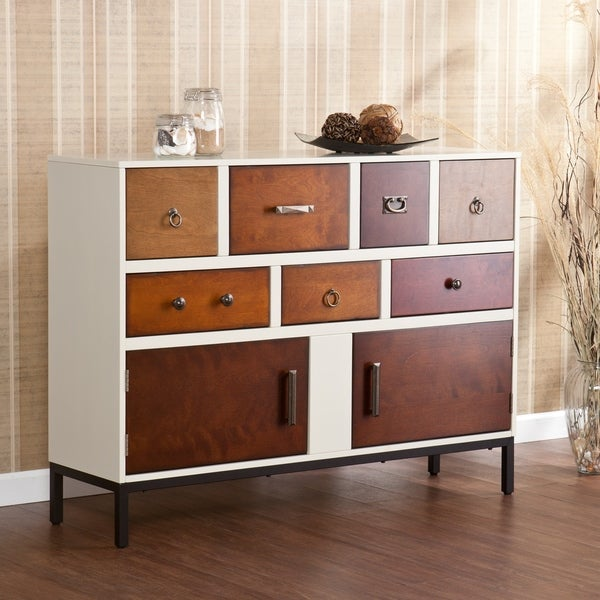 The Curated Nomad Sequoia Brown Wood 7-drawer Console