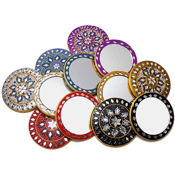 Handmade Beaded Purse Mirrors (Set of 12) (India)