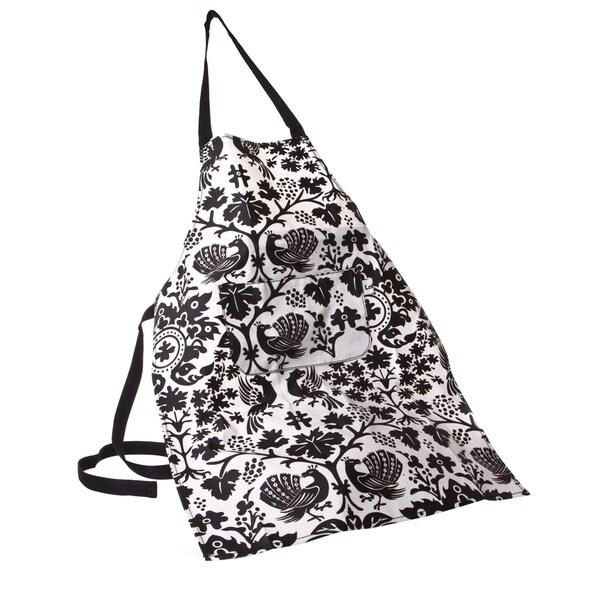 Lollica Black/ White Unisex Apron With Pocket