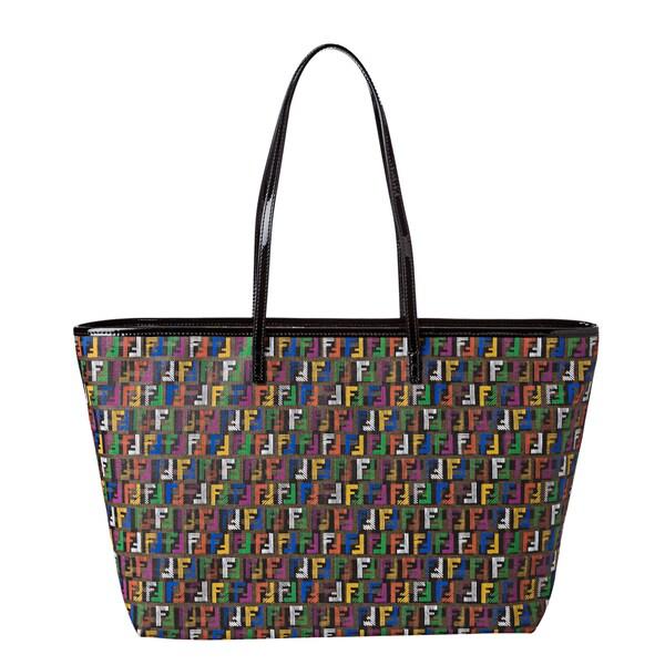 Fendi Multi-colored Zucchino Print Roll Tote Bag