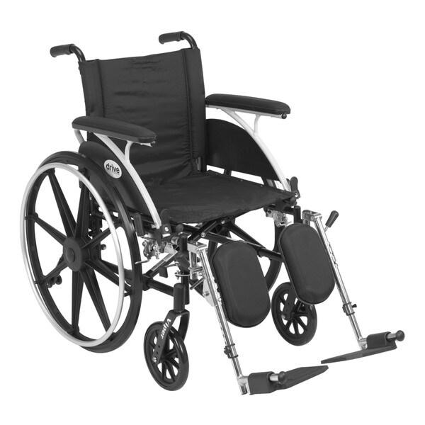 Drive Medical L418DFA-ELR Viper Black Flip Back Desk Arm Wheelchair