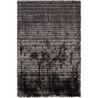 Hand-woven Emory Grey Plush Shag Area Rug - 2' x 3'