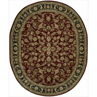 Nourison 2000 Hand-tufted Burgundy Tabriz Rug (7'6 x 9'6)