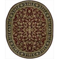 Nourison 2000 Hand-tufted Burgundy Tabriz Rug - 7'6 x 9'6