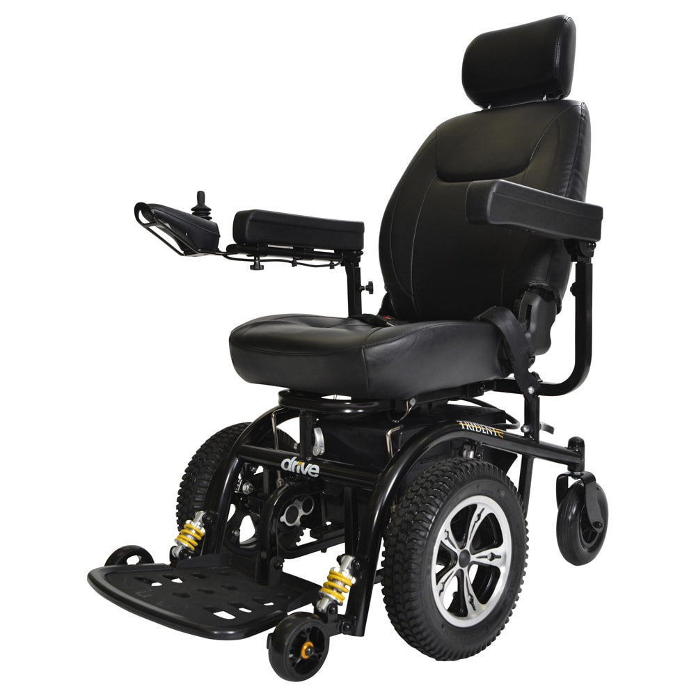 Drive Medical Trident Front Wheel Drive Power Chair - Bla...