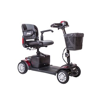 Drive Medical Spitfire EX Compact Travel, 21AH Battery 4 Wheel, Power Mobility Scooter