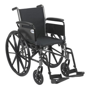 Drive Medical Cruiser III Black Lightweight Wheelchair