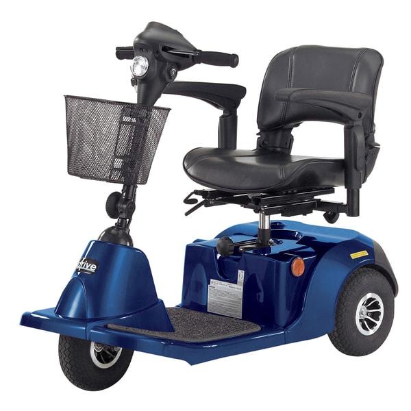 Daytona 3GT Blue Medium-sized 3-Wheel Scooter with Padded Seat