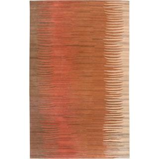 Hand-tufted Encino Brown Wool Rug (2' x 3')