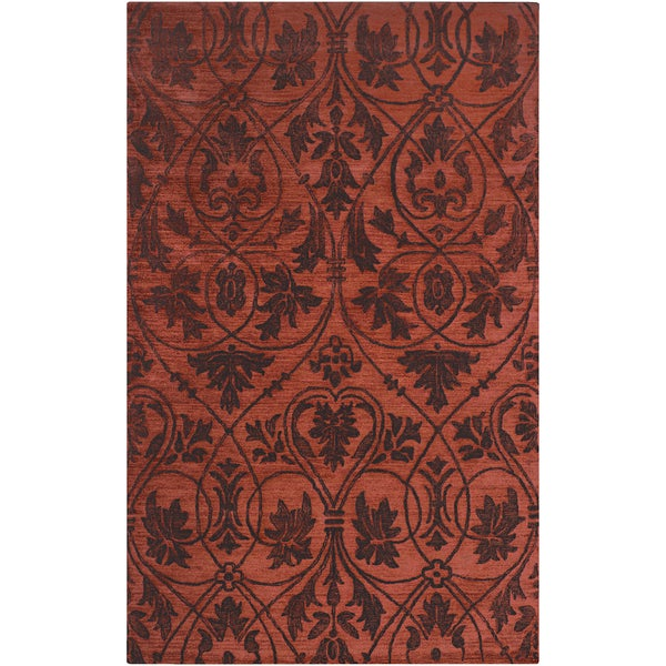 Woven Friona Red Wool Rug (2' x 3')