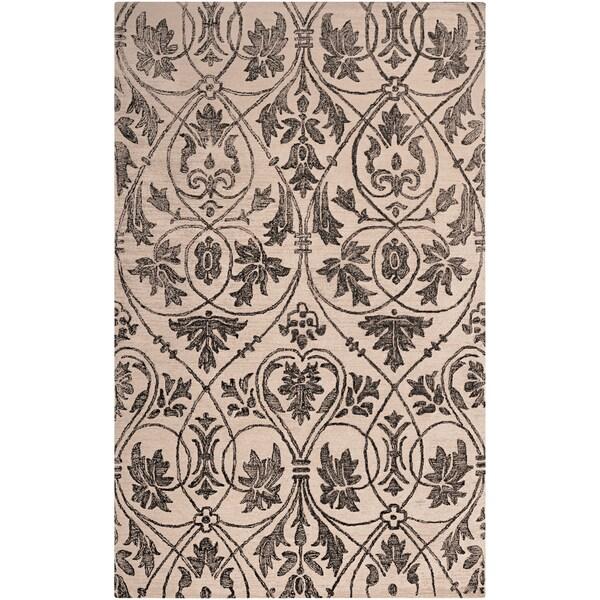 Woven Fromberg Beige Wool Rug (2' x 3')