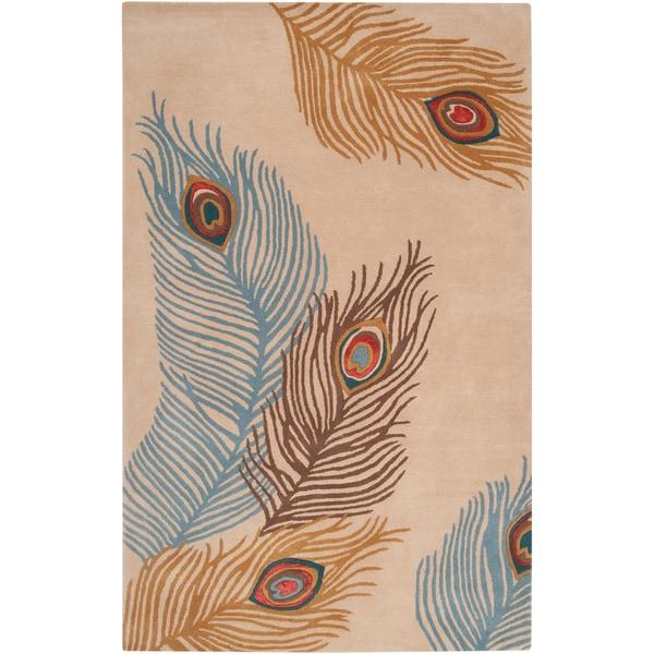 Bob Mackie Hand-tufted Gladewater Beige Wool Rug (2' x 3')
