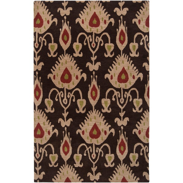 Hand-tufted Goleta Brown Wool Rug (2' x 3')