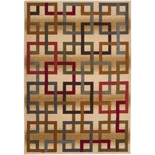 Goree Beige Geometric Rug (2'2 x 3'3)