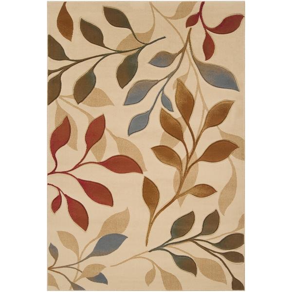 Gorman Beige Floral Area Rug (2'2 x 3'3) - 2'2 x 3'3