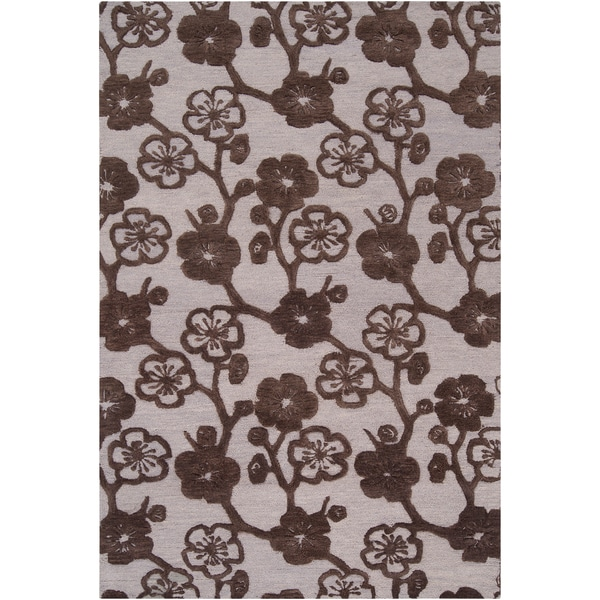 Hand-tufted Narciso Brown Wool Rug (2' x 3')